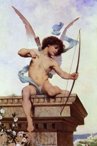 Eros the god of loves looks