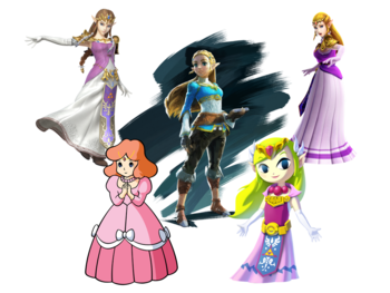 the legend of zelda princess zelda characters tv tropes