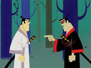 https://static.tvtropes.org/pmwiki/pub/images/samurai_jack_vs_mad_jack350.png