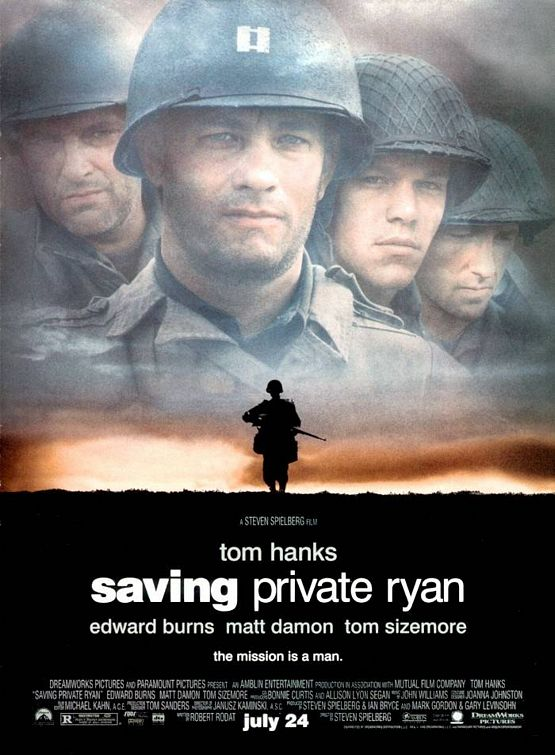 a review of the film saving private ryan The release of saving private ryan generated a massive hype due to steven spielberg having also directed that other second world war opus, schindler's list.
