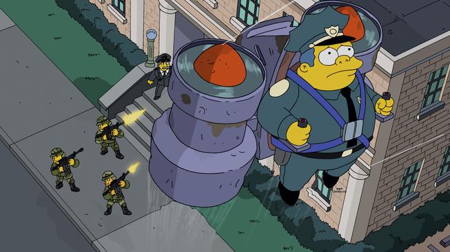 The simpsons s 26 e 16 sky police recap tv tropes - Police simpsons ...