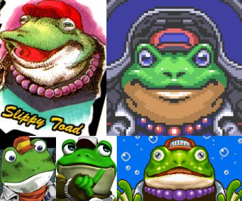 https://static.tvtropes.org/pmwiki/pub/images/slippy_toad_collage.png