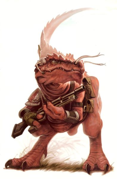Most Star Wars aliens tend to be anthropomorphic.