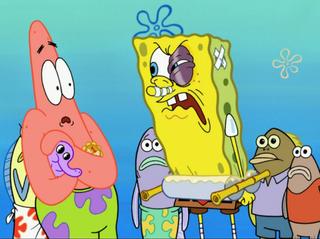 spongebob squarepants s 7 e 2 growth spout stuck in the