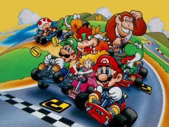 Super Mario Kart Video Game Tv Tropes