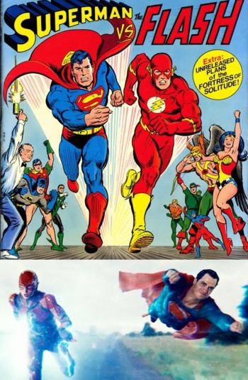 Justice League (2017) / Mythology Gag - TV Tropes
