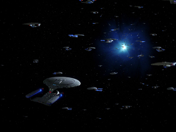 http://static.tvtropes.org/pmwiki/pub/images/tng_parallels_uss_enterprise_d_convention_near_a_quantum_fissure.jpg