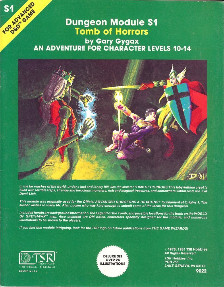 tomb of horrors tabletop game tv tropes
