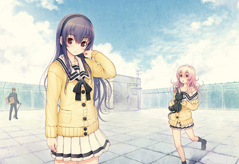 Kimi to Kanojo to Kanojo no Koi Visual Fan Book JAPAN Nitroplus