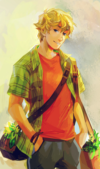 Eldely With No Fan : The camp half blood series characters
