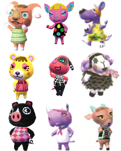 animal crossing villager types