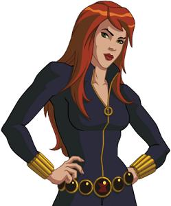 Ultimate spider man black widow