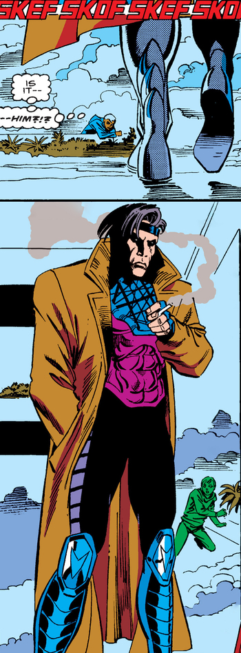 https://static.tvtropes.org/pmwiki/pub/images/uncanny_x_men_1963_issue_266_gambit_foot_first_intro.jpg
