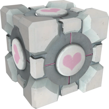 https://static.tvtropes.org/pmwiki/pub/images/weighted_companion_cube.png